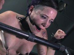 Púrpura-haired francés de Freya y la tortura duro-a anal en el sótano - Freya francés