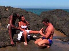 Cocer al vapor a caliente trío MMF con bomba sexual deslumbrante Jade pecado - pecado Jade