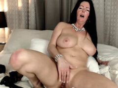 Nasty Big Tits Bitch Shoves Dildo In Her Asshole
