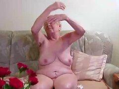OmaGeiL casi cien años vieja abuela desnuda, abuela muy vieja mostrando su bien de edad Maduritas arrugas