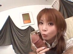 Rika Sakurai disfruta de polla en la escuela durante las escenas porno