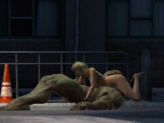 Hulk 3, otro hulk de culo coño rompiendo tiempo