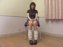 Loca chica japonesa Yuna Hoshino en primer plano más caliente escena Solo Girl JAV
