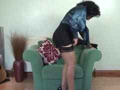 Big booty maduras gorditas en bragas, lamiendo sus tetas naturales - Danica Collins
