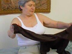 La abuela seductor solo imágenes de senos maduros mayores desnudas striptease
