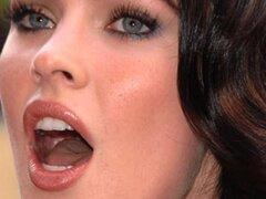 Mamada de Megan Fox, Mouthfucking y Cum Facial