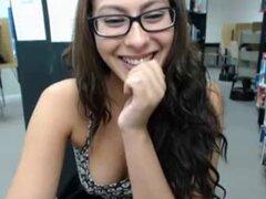 Coño de consoladores biblioteca webcam chica
