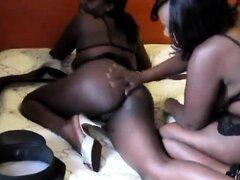 Amateur lesbianas africanas les encanta jugar con el otro