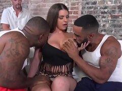 Slut rides black dicks