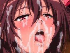 Guarra Hentai es follada doble. Hentai slut obtiene sexo grupal follada en doble