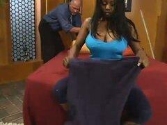 Dominación interracial y sexo Bondage con Ebony Pornstar Jada Fire