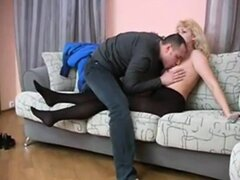 Russian mature mom in threesome 02