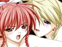 Anime lesbianas frotando sus coños