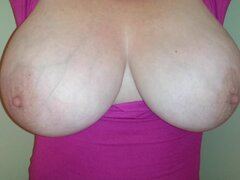 38H love melons Lateshay in pink top no brassiere, Jack Off your schlong and cum hard.