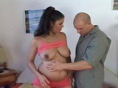 Embarazadas peluda madre se la follan y cummed en tetas