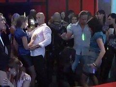Chicas de fiesta borrachas siempre toman la iniciativa en el sexo grupal