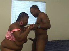 Gran polla negra para un coño negro grande de una mujer negra grande