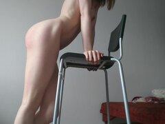 Sexo extraño extraño EP 6: silla follar consolador, vape y temblor orgasmo