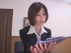 Japonés fabuloso modelo Akari Asahina en video más caliente Secretaria JAV,