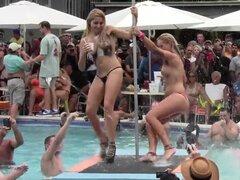 GUARRAS desnudas piscina clave oeste Ronda Final loco