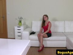 Amateur auditioning babe pussyfucked by agent