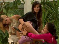 Tres lesbianas meadas calientes de amor