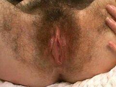 Amateur peluda separarse