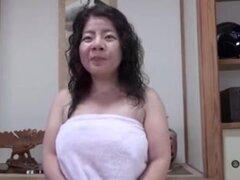 Japonesa fea BBW maduras Creampie Junko fusible 46years