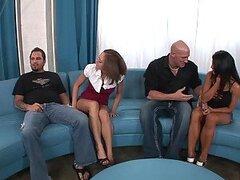 Cuarteto caliente swinger se vuelve salvaje con las putitas Scarlett Fay y Charisma Capelli