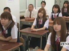 Nudistas CFNM subtitulada escuela de estudiante japonesa de transferencia