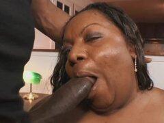 Super negra BBW follada por la vagina