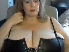 Seducing with my old hooters on amateur webcam, I made this big breasted amateurs video to shows how hot a granny can look. I'm wearing sexy underwear in the clip.