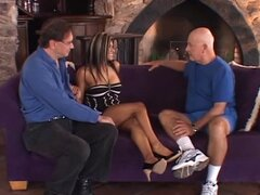 Hot Swingers Try Another Man. Husband watches as his wife tries fucking another man for some kinky pleasure here at the Screw My Wife Club.