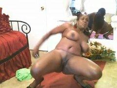 Webcam de negras madura