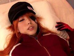 Asuka Langley creampied después follando. CFNM Asuka Langley creampied después follando y queening loco