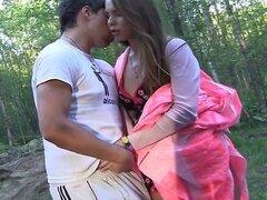 (sin sonido): sexo de adolescentes en el coche de picnic