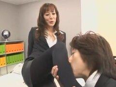 Fabulosa chick japonesa Honami Takasaka en StockingsPansuto exóticas, película Secretario JAV
