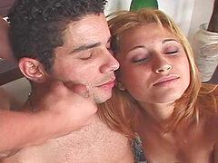 Trío bisexual con la rubia Kelly