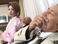 Increíble chick Japon Rinka Kanzaki en JAV exóticos sin censura Creampie película