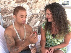 Curly-haired madam with lots of experience is getting blacked - Terry Wild
