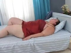 mujer hermosa grande gal da con obeso boyfrend