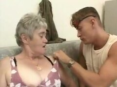 Old granny fuck mate joven,