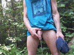 Wank fuera meadas desnudas