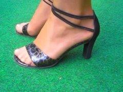 Show de tacones medias nylon de fetiche de pies X32. Ver tacones medias pie fetiche nylon X32