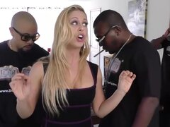 Cherie DeVille gets gangbanged by big black cocks, Cherie's out of chips, which means she'll have to call Mr. Kelly for a money drop. This could take a few days to happen, and our crew wants to get paid out immediately.