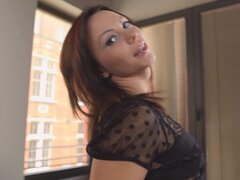 Alysa Gap is a slutty brunette who will do anything for a black dick - Alysa Gap