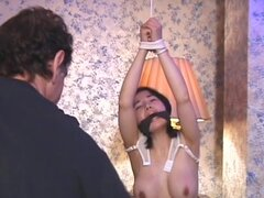 FetishNetwork Movie: Bound Asian Beauty 3: Melody. In Bound Asian Beauty 3, Master Rick Savage introduces us to a pretty & demure bondage virgin named Melody. Unlike most oriental girls, she has large well rounded breasts and the Master subjects them toa vicous tit teasing and flogging session. It becomes painfully obvious that it's Melody's first time by the terrifed look on her face, as Rick applies tight restrictive rubber bands around her breasts and clothes-pins to her swollen nipples. Master Savage further humiliates her by shooting rubber bands at her from across the room.