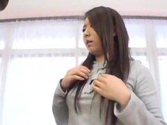 Puta japonesa loca Chao Suzuki, Mimi Asuka, Rui Saotome en Cunnilingus increíble, video peludas JAV