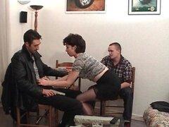 Francesa madura anal follada en Trio