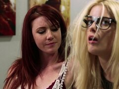 Nerdy girl turns naughty for an afternoon of lesbian love - Kirsten Price, Charlotte Stokely